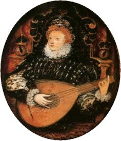 Elizabeth I tocando o alaúde, por Nicholas Hilliard.