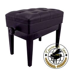 "CS-12 EBHP Deluxe Adjustable Piano Bench (Polished Black) by Cameron & Sons. $124.95. Cameron & Sons CS-12 EBHP Deluxe Adjustable Piano Bench with Music Storage, Dimensions: 22.5"" long, 13.5"" deep and adjusts from 19'' to 22'' inches in height. The padded faux leather top is fully upholstered and finished with classic style buttons. It weights about 30 pounds. Ideal compliment to any upright piano or grand, baby grand piano. Quick and easy assembly, just attach the ..."