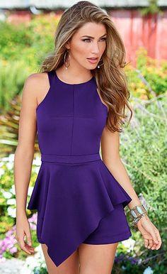 08e09196348 Irregular Purple Sexy Romper Lace Romper