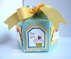 Birthday Box made with the Milk Carton die from Stampin' Up