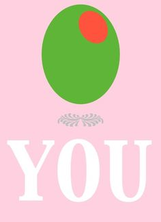 Olive You Print $10 #etsy