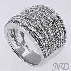 Wide Diamond Wedding Band   Pinterest   Diamond, Unique and Ring