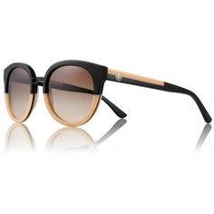 Tory Burch Panama Sunglasses   ❤ liked on Polyvore (see more orange sunglasses)