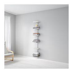 IKEA - ALGOT, Wandrail/planken, De onderdelen van de ALGOT serie kunnen op diverse manieren worden gecombineerd en zijn daardoor eenvoudig aan te passen aan de behoefte en de ruimte.Ook te gebruiken in de badkamer en andere vochtige ruimtes binnen.Je klikt de consoles in de ALGOT wandrails op een plek waar je een plank of accessoire wilt bevestigen - geen gereedschap nodig.