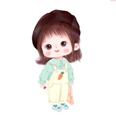 Cartoon Girl Images, Girl Cartoon Characters, Cute Cartoon Pictures, Cartoon Girl Drawing, Cartoon Art, Cute Bunny Cartoon, Baby Cartoon, Cute Girl Illustration, Cute Love Pictures