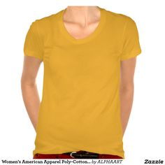 Women's American Apparel Poly-Cotton Scoop Neck T-Shirt