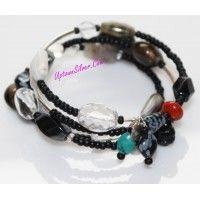 Silpada Jewelry Turquoise Black Onyx Jasper 925 Sterling Silver..