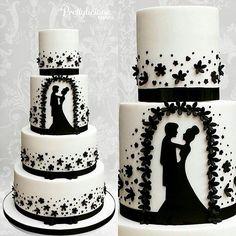 "Páči sa mi to: 5,708, komentáre: 11 – #No.1 Nigerian Cake Blog  (@cakebakeoffng) na Instagrame: ""Be Mine!! ... BEAUTIFUL Silhouette Wedding Cake via @prettyliciouzcakes ❤❤❤❤#Cakebakeoffng…"""