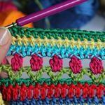Iris Crochet Junto arco manta de Bebé Parte 4