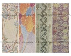 Art Nouveau digital image collage sheet, 4 bookmarks, 7.5 x 2.5, PDF email, ANB10 -    Edit Listing  - Etsy
