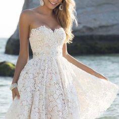 Free worldwide shipping. Easy return. #lacedress #flaredress #partydress #partywear #womenwear #kneelength #dresses #womendress #fashion #slimfitdress #sexylook #whitedress