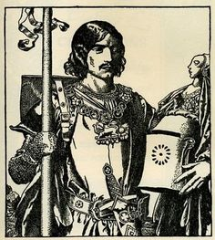 """Sir Lancelot,"" illustration from ""The Story of King Arthur and His Knights"" written and illustrated by Howard Pyle."