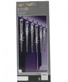 96LED 6CT WH CASC ICICLE