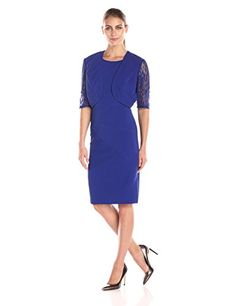 Maya Brooke Womens 34 Sleeve Lace Jacket with Dress Royal 18 * Want to know more, click on the image.