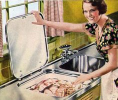 15. Diswhwasher was popular in 1950s and since then, women has more time to make their beauty.