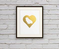 Cavalier King Charles Spaniel Cameo Heart Silhouette by BarkPrints