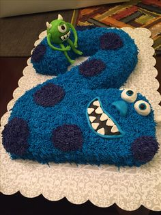 Monsters inc cake I made for my nephew