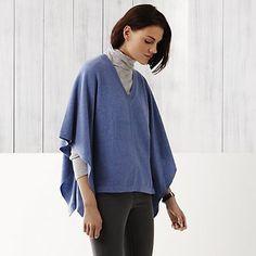 Cashmere Poncho Sweater   The White Company
