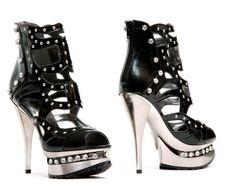 Black Heel With Rhinestones $79.99 #thevioletvixen #burlesque http://www.thevioletvixen.com/collections/shoes/products/black-heel-with-rhinestones