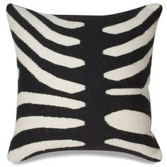 Décor - Black Zebra Pop Throw Pillow