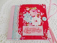 Cottage Chic Floral Needle Book
