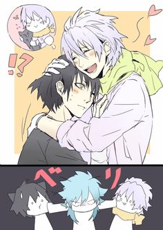 DRAMAtical Murder - Clear, Ren, and Aoba