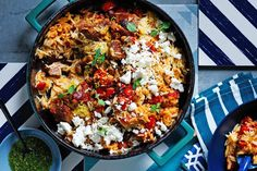 Matt Preston's Greek lamb tray bake Australia's rugged bush and the hot hills of Greece are united in their love Tray Bake Recipes, Baked Meat Recipes, Lamb Recipes, Greek Recipes, Dinner Recipes, Cooking Recipes, Healthy Recipes, Lamb Casserole Recipes, Greek Meals