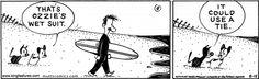 MUTTS Summer #summer #fun #vacation #beach #Earl #Mooch #Ozzie #comic #art #surf #wave