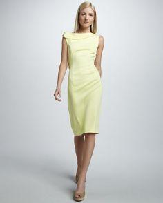 Rachel Roy - back-bow dress in zest