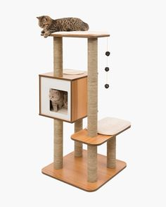 Vesper Cat Furniture- modern, well-designed, durable and affordable. Not to mention- cats love it!