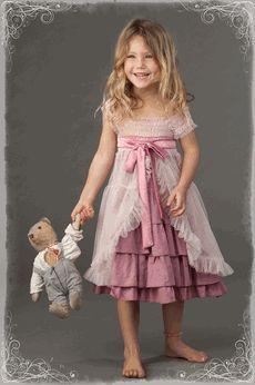 Luna Luna Copenhagen Luxurious Holiday Juliette Dress in Dusty Pink