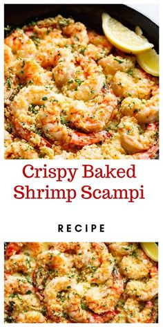 shrimp recipes baked - shrimp recipes _ shrimp recipes healthy _ shrimp recipes for dinner _ shrimp recipes easy _ shrimp recipes pasta _ shrimp recipes videos _ shrimp recipes healthy clean eating _ shrimp recipes baked Baked Shrimp Recipes, Shrimp Recipes For Dinner, Seafood Dinner, Fish Recipes, Seafood Recipes, Healthy Recipes, Recipe For Salmon And Shrimp, Shrimp In The Oven, Frozen Shrimp Recipes