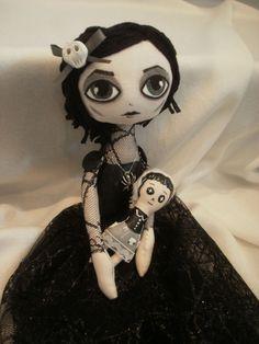 Gothic Zombie Cloth Doll