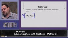 Solving Equations with Fractions method 2 | Skubes