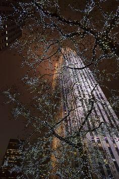 Winter Illumination in Rockefeller Center, Manhattan, NYC