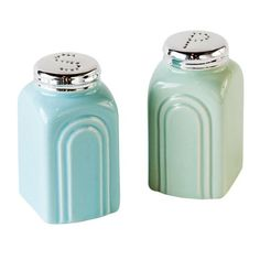 Add some 50s retro flair to your kitchen with these stoneware salt and pepper shakers from One Hundred 80 degrees.