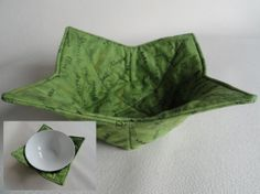 Microwavable fabric bowl cover. by TheScatteredArtisan on Etsy, $9.00