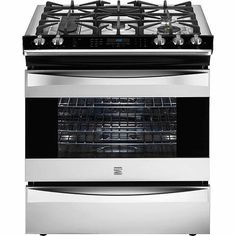 Ancona Gourmet Series 24 In Freestanding Gas Range With Electric Oven Kitcken Pinterest Kitchen And Stove