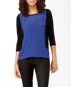 Colorblocked Panels Top | FOREVER21 - 2021841173