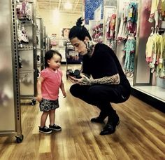 Ronnie Radke with his daughter Willow <3 so adorable.