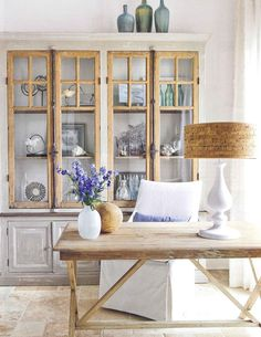 home office. I like the drift-wood look of the cabinetry