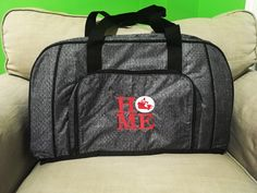 All packed duffle with home icon-it. 31 Gifts, Thirty One Gifts, Personalized Products, Personalized Gifts, Home Icon, Canada Day, Travel Bags, Bag Accessories, Traveling By Yourself