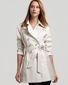 DKNY Stacle Double Breasted Trench $230 - bloomingdales