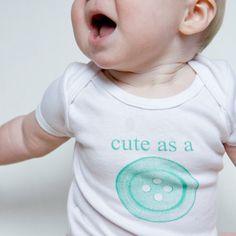 Cute as a Button Baby Onesie (DIY'able)