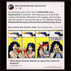 #superherosaturday: Proud to report that my article on @AceOfGeeks (Part Two of What Would Wonder Woman Do about Gun Control in America?) has received two AWESOME endorsements: Christie Marston (granddaughters from WonderWoman creator) You did a great job on that! and @dccomics Batman and the Signal writer Tony Patrick Wow. Powerful stuff from Ace Of Geeks & WonderWoman scholar Brian Patterson!. Please read and share my Op-Ed which interlaces statistics with Wonder Woman imagery and…