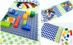 Construction Wallet - Blue Green - LEGO NOT INCLUDED - pre order