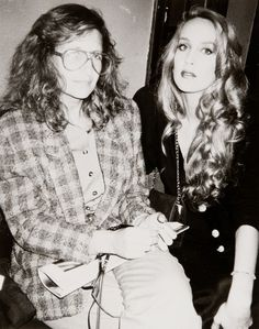 Jerry Hall and Annie Leibowitz by Andy Warhol. P.S. This may be the best thing I've ever seen.