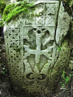 Khachqar near Okhty ekhtsi monastery. Artsakh Armenia