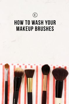 How to properly clean make up brushes