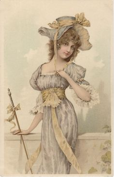 beautiful lady with hat fine litho A0079 | Collectibles, Postcards, Artist Signed | eBay!